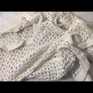 Michael Kors White/cream Long Sleeve Knit Top